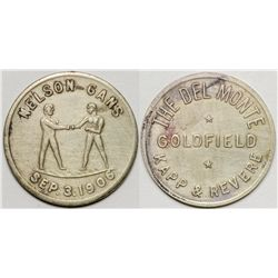 Nelson-Gans Fight Token - Goldfield, NV