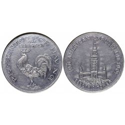 Pan Am Exposition Bawdy Token - Buffalo, NY