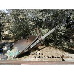 ORE CAR AND SLUSHER BUCKET
