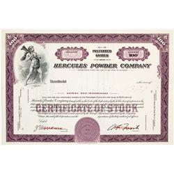 Hercules Powder Stock Certificate -