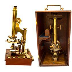 John W. Sidle Acme No. 3 Petrographic Microscope -
