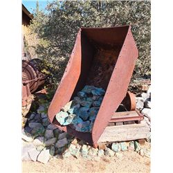 Tipping Ore Car with Chrysocolla -