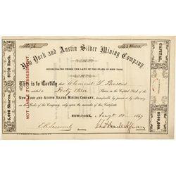New York & Austin Mining Stock Certificate - Austin, NV