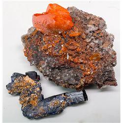 Crystal Minerals Pair -