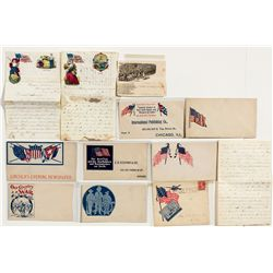 Patriotic Cover & Letter Group -