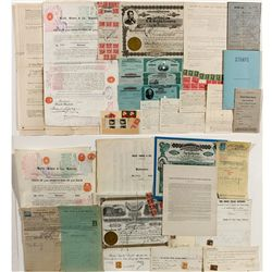Philatellic Postal Revenue Stamp Documents History Group -