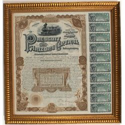 Prescott and Arizona Central Railway Co. Bond Framed -