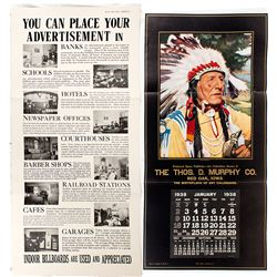 The First American Thos Murphy Promotional Calendar -