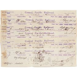 Central Pacific Freight Vouchers - Carson City, NV