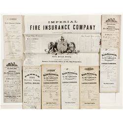 Sharon Signed Insurance Policies, NV, CA Revenue Stamps - Carson City, NV