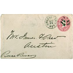 James F. Reed Envelope  - Virginia City, NV