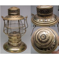 Rare Silver Plated V&T Lantern - Virginia City, NV