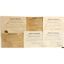 Early Utah Postmaster Appointment Certificates - Portage, UT
