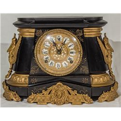 "Ansonia ""Pompeii"" Model Mantle Clock -"