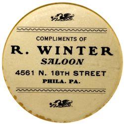 W. Winter saloon Mirror - Philadelphia, PA
