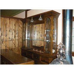 Small Ornate Antique Backbar  -