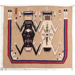 Mother Earth, Father Sky Sandpainting Navajo Rug -