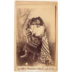 Apache Girl Cabinet Card -