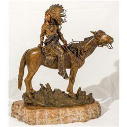 Kauba Bronze Native American Sculpture -
