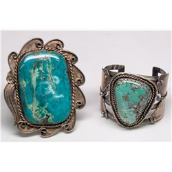 Silver and Turquoise Indian Bracelets -