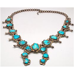 Turquoiose Squash Blossom Necklace -