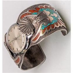 Chip Inlay Navajo Watch -  AZ