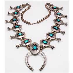 Shadow Box Navajo Squash Blossom Necklace  -  NM