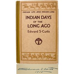 "Autographed Edward S. Curtis ""Indian Days"" Book - New York, NY"