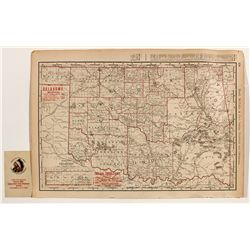 Western Oklahoma Indian Territory Map by Rand, McNally & Co. -  OK