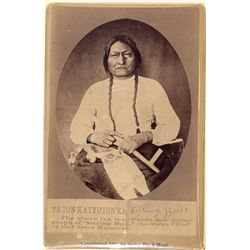 Sitting Bull Cabinet Card -  SD
