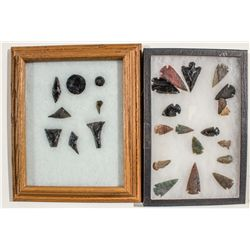 Nez Perce Obsidian Tools & Flint Arrowheads -  WA