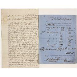 Adams & Company Assay Receipts - Mokolumne Hill, CA
