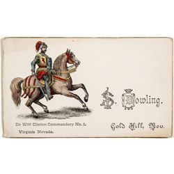 Sam Dowling Assay Business Card - Virginai City, NV