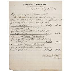 Assay Document Bacon Mill & Savage Mine - Virginia City, NV