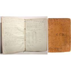 Consolidated Virginia Mine Assay Book - Virginia City, NV