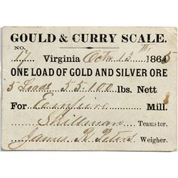 Gould & Curry Scale Note - Virginia City, NV