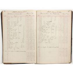 Hale & Norcross Silver Mining Company Assay Records - Virginia City, NV