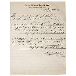 James Fair Assay Paper - Virginia City, NV