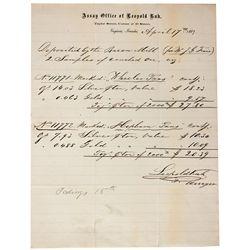 Savage Mine Assay Documents - Virginia City, NV