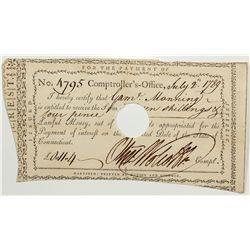 Colonial Connecticutt Currency Note -  CT