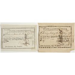 Post-Revolutionary State of Connecticut Scrip -  CT