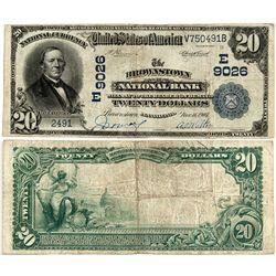 Brownstown National Bank Large $20 - Brownstown, PA