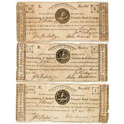 Pennsylvania Turnpike Currency Trio -  PA