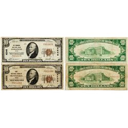 Pair of Texas Small Size Notes - Huntsville, TX