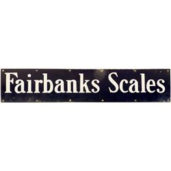 Vintage Enameled Scale Sign -  VA