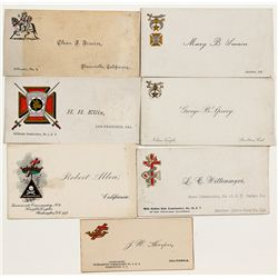 Masonic Calling Cards -  CA