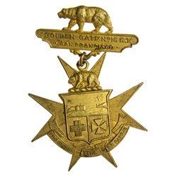 Knights Templar Commandrey of San Francisco Medal, Golden Gate #16 - San Francisco, CA