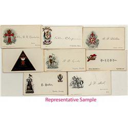 1870's Knights of Templar Calling Cards - Virginia City, NV