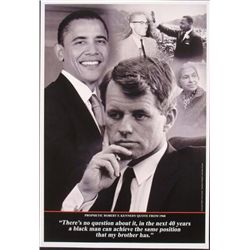 3 Prints- Barack Obama Historic Victory Prophetic Quote