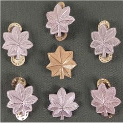 7 MILITARY METAL INSIGNIA FOR RANK-COL & LT COL
